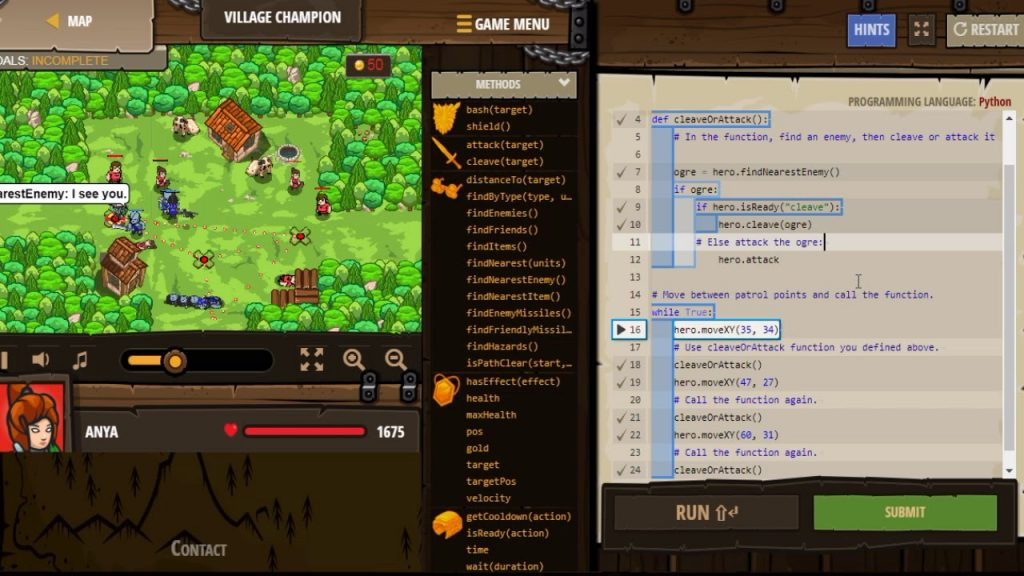 coding games for kids Codecombat