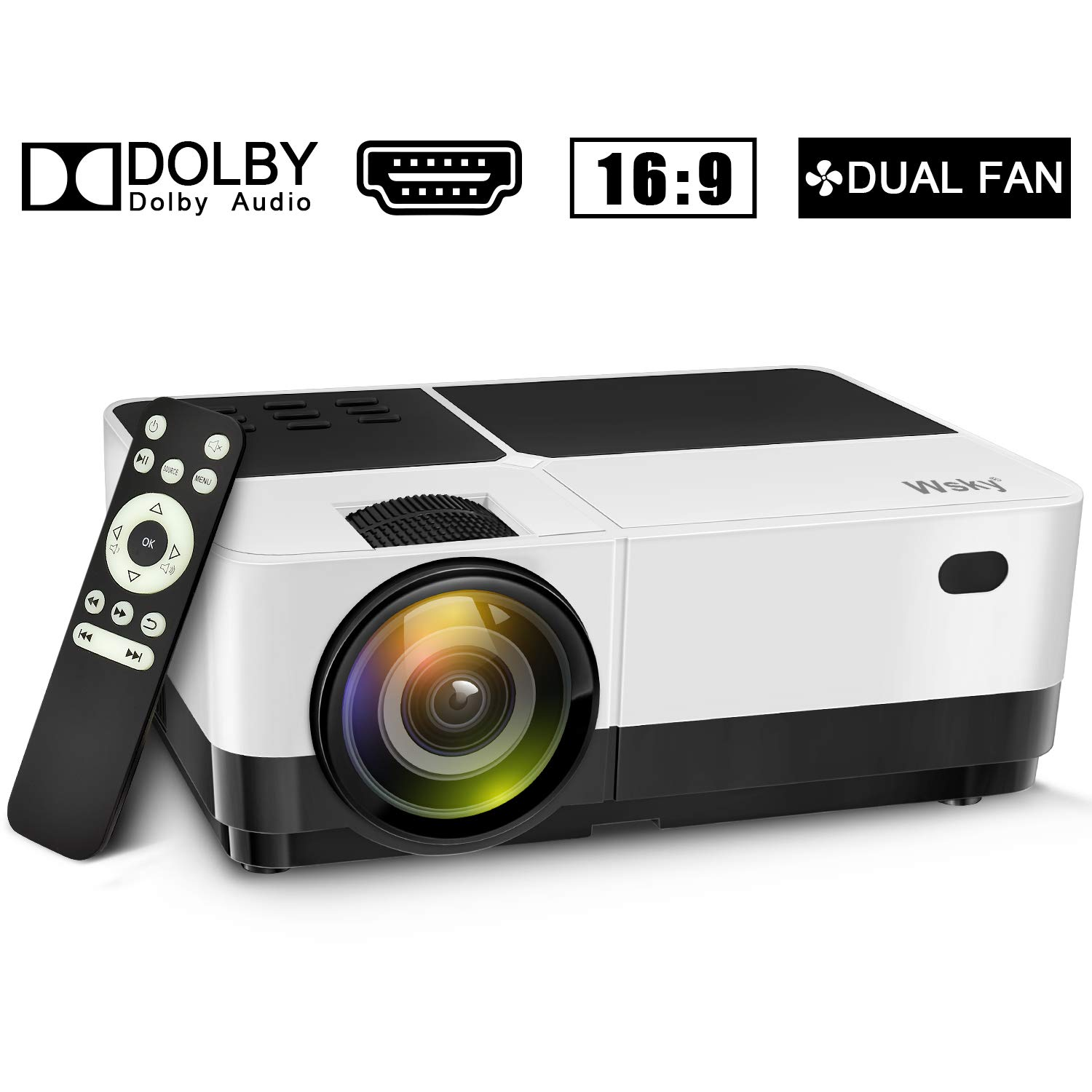 Wsky Video Portable Projector