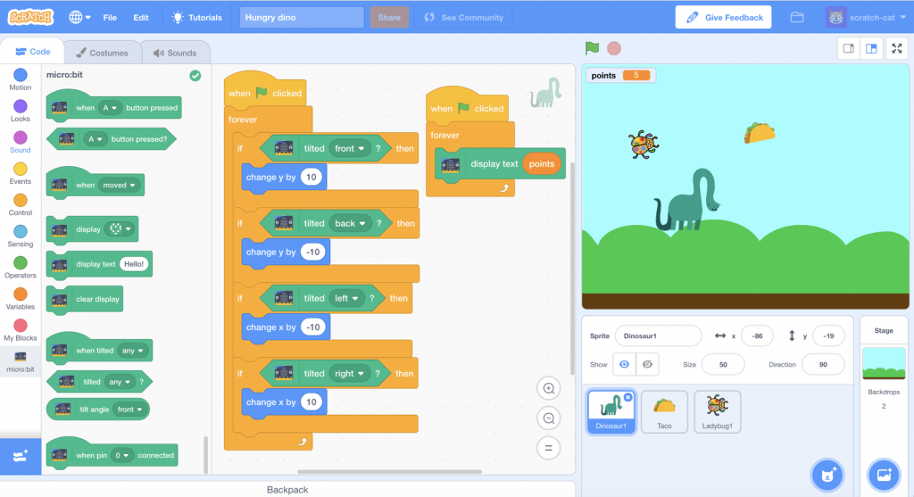 coding games for kids Scratch