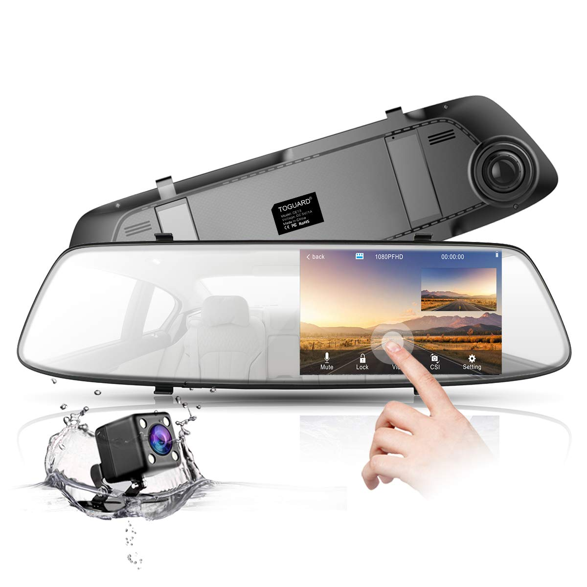 TOGUARD Dash Cam Backup Camera