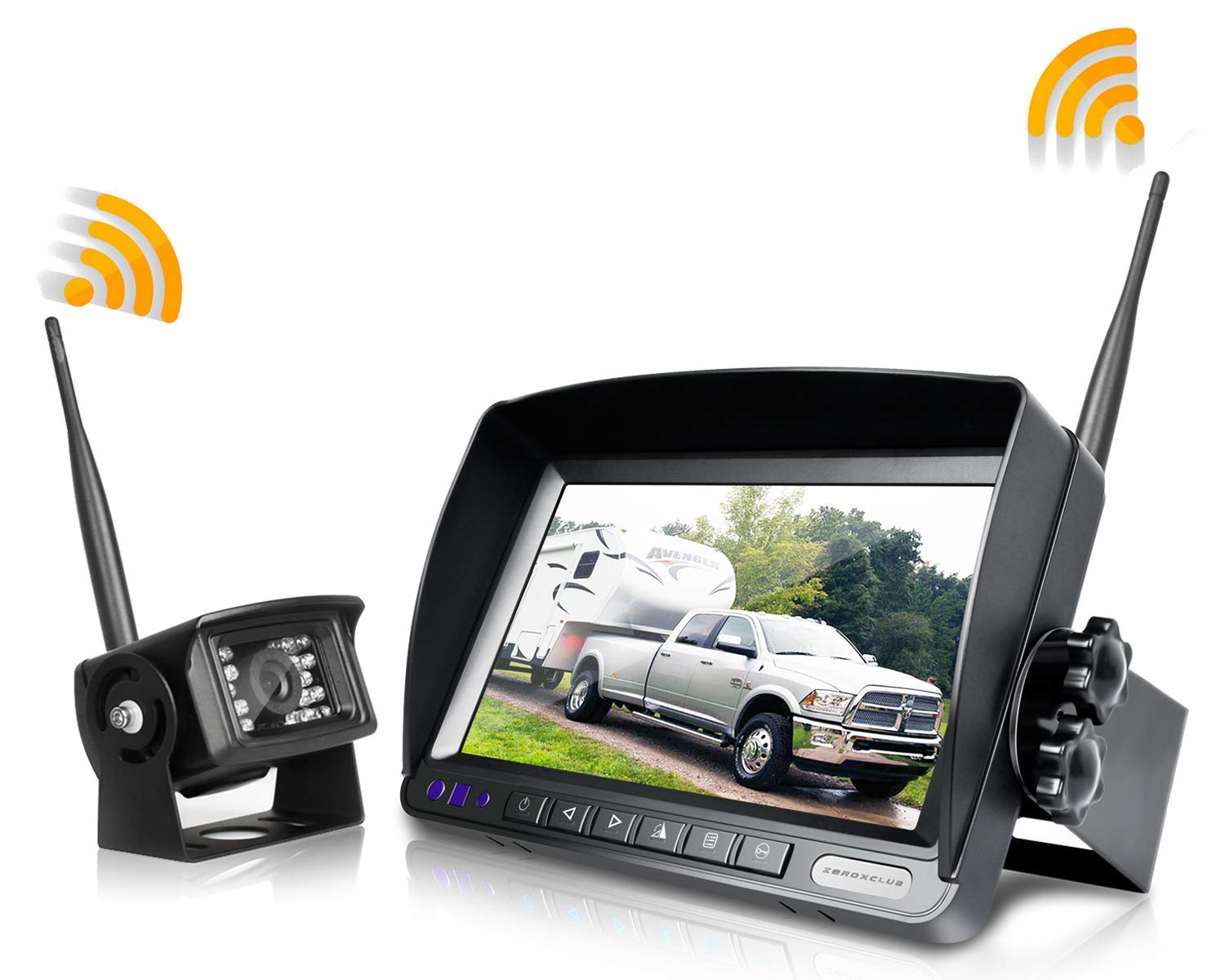 ZEROXCLUB Digital Wireless Backup Camera and System Kit