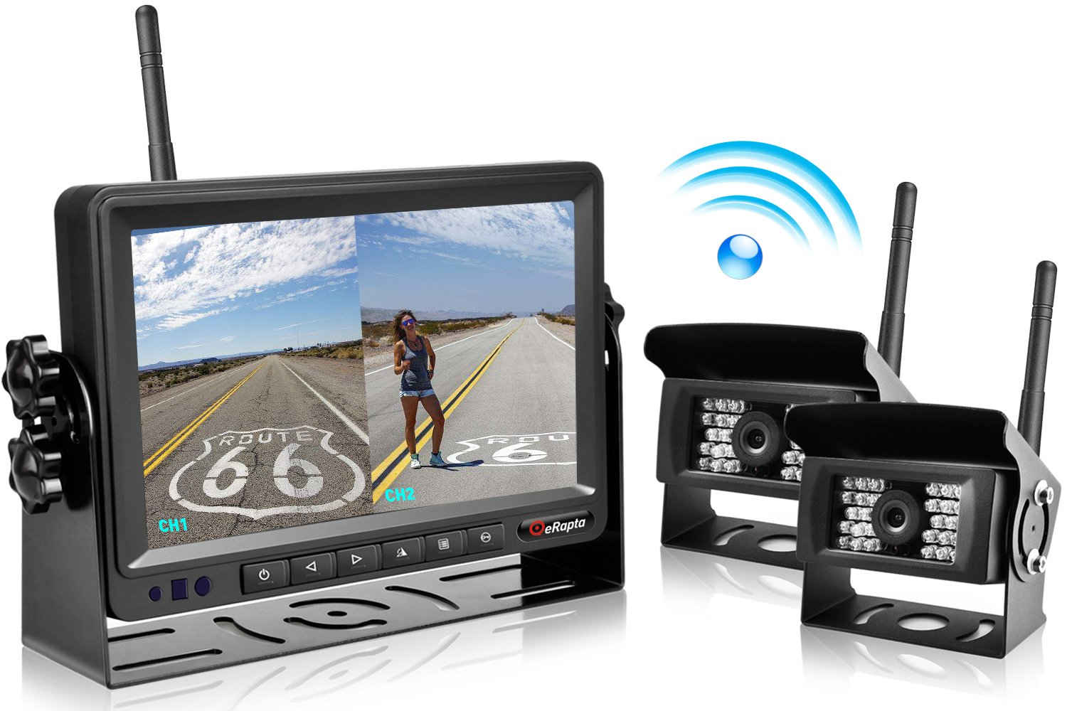 eRapta Updated Digital Wireless Backup Camera