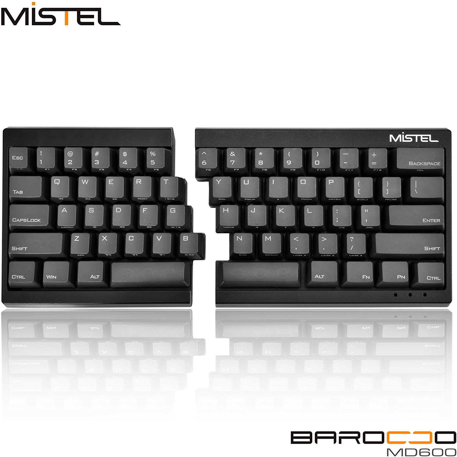 Mistel Barocco Ergonomic Split PBT Mechanical Keyboard