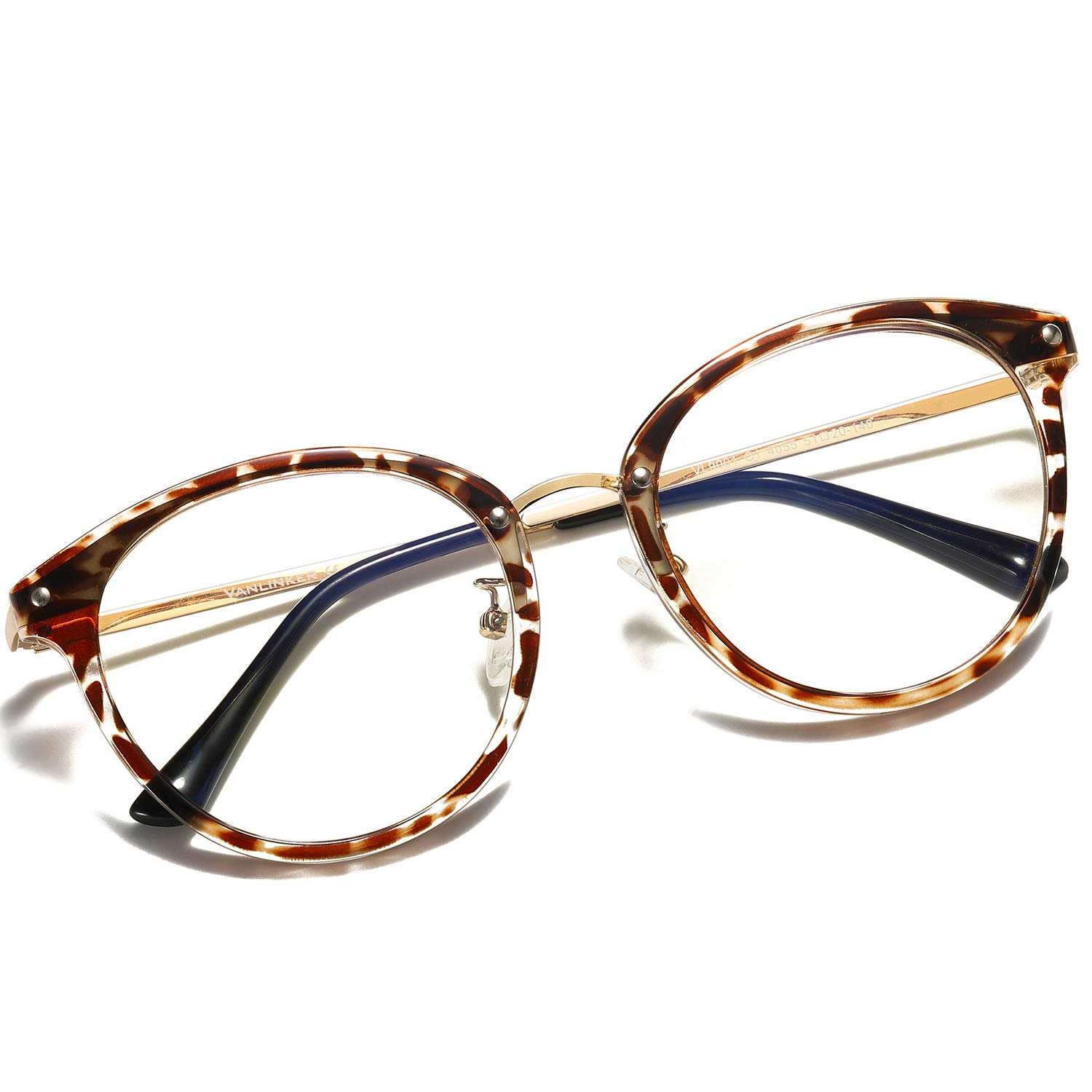 VanLinker Leopard Print Blue Light Blocking Glasses