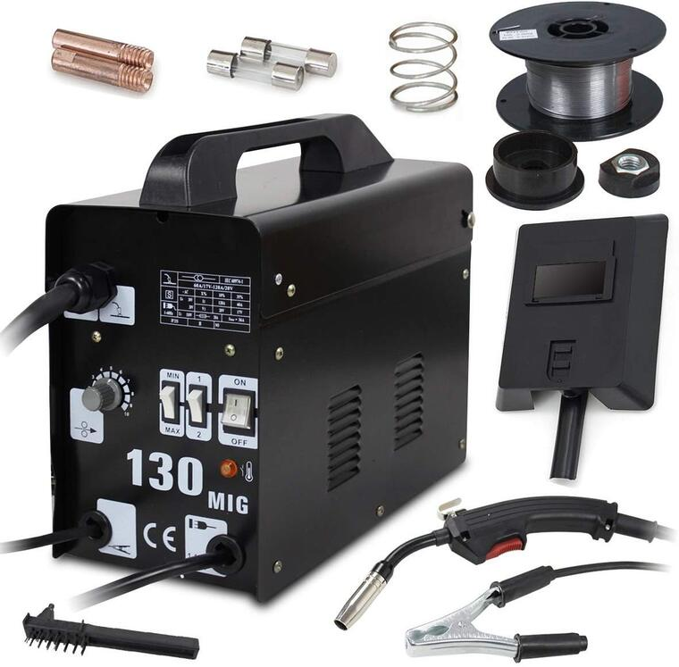 Super Deal PRO Commercial MIG 130 AC Flux Core Wire Automatic Feed Welder