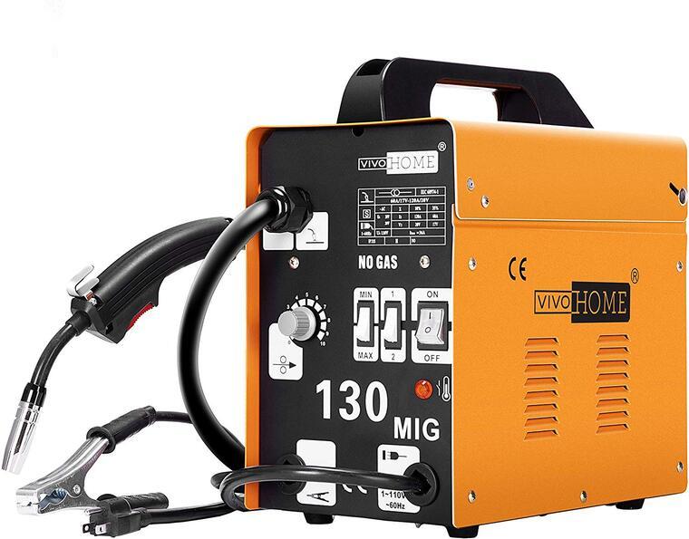 6 VIVOHOME Portable Flux Core Wire No Gas MIG 130 Welder