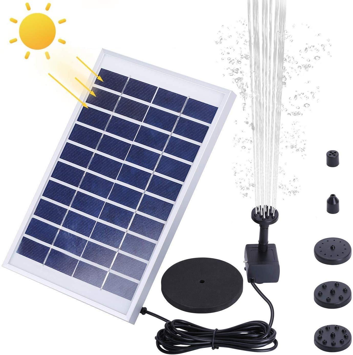 AISITIN 1000mAh 5.0W Solar Fountain Pump