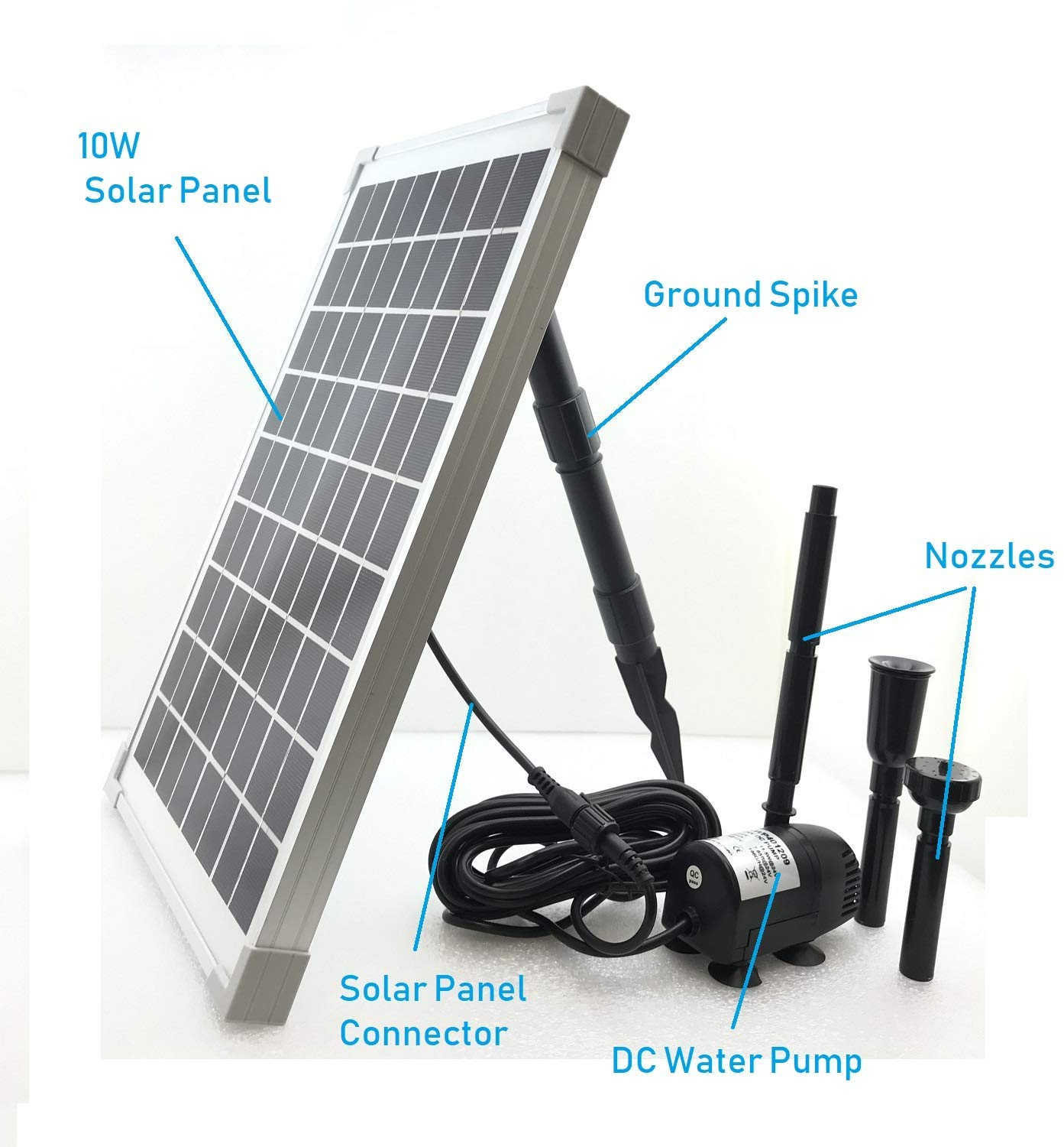 Solar Powered Water Pump Kit illustration