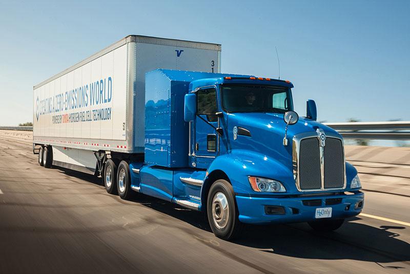 Hydrogen fuel cell trucks