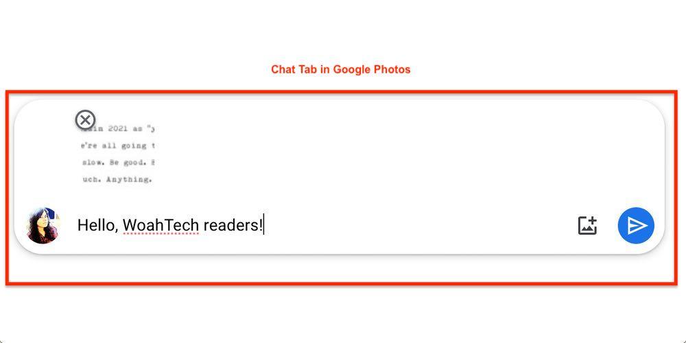 Google Photos Chat Tab