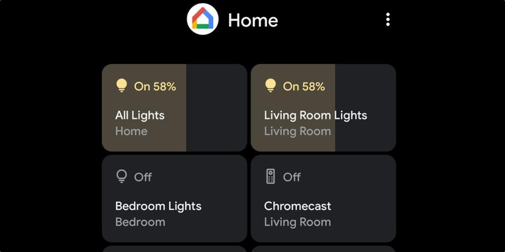 Google Smart Home Controls on Samsung
