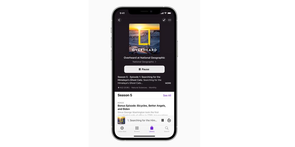Apple iOS 14.5 podcast app