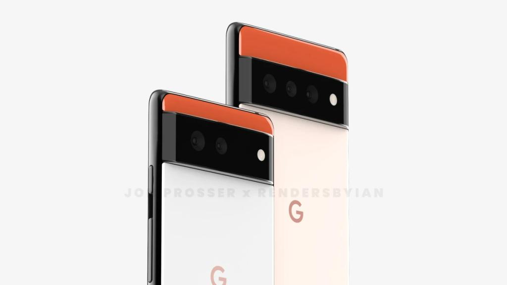Google Pixel 6 and Pixel 6 Pro renders