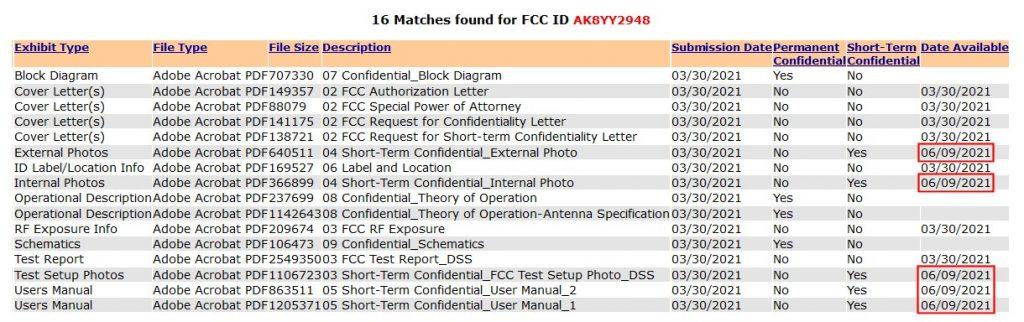 Sony WF-1000XM4 FCC