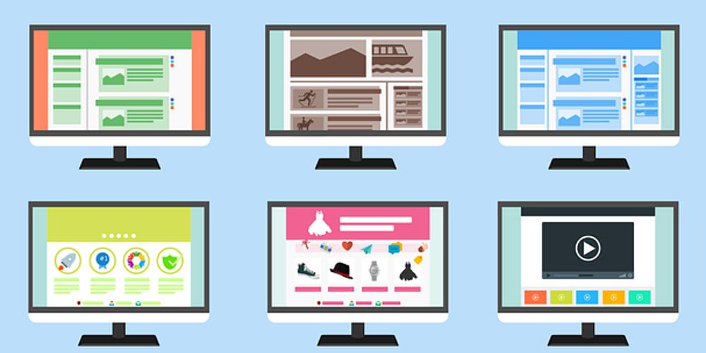 website navigation and elements